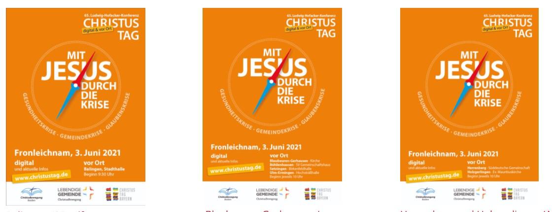 Plakat Christustag 2021 Gesamt
